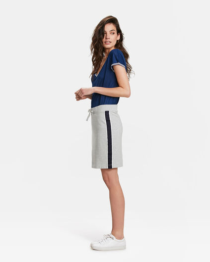 DAMES SPORTY STRIPE SWEAT ROK Grijs