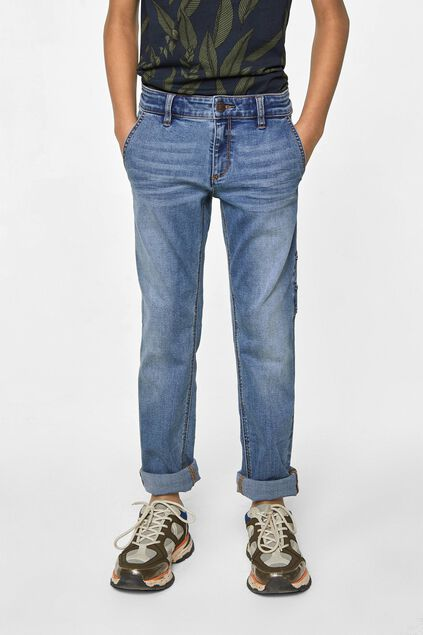 Jongens regular fit workerjeans Blauw