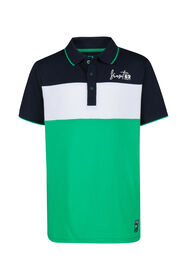 Jongens colourblock polo_Jongens colourblock polo, Blauw