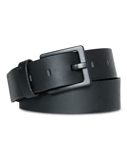 HEREN MATT REAL LEATHER RIEM Zwart