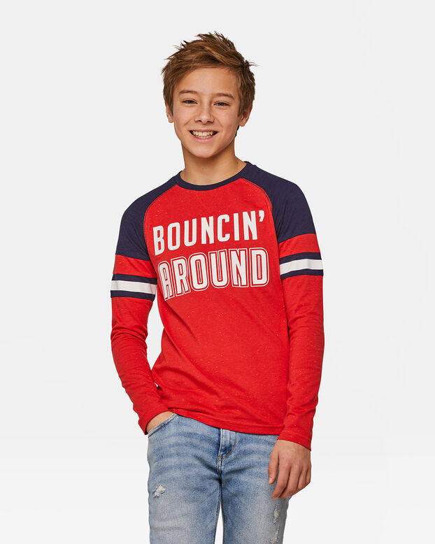 Jongens Bouncin around T-shirt Rood
