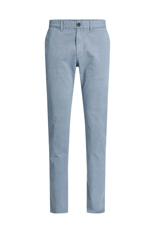 Heren slim fit chino met dessin Blauw
