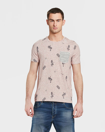 HEREN BEACH PRINT T-SHIRT Oudroze