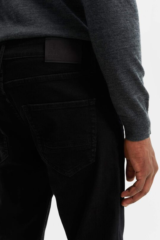 Heren athletic fit  jeans met super stretch Zwart