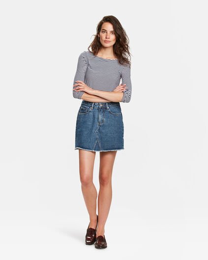 DAMES DENIM ROK Donkerblauw