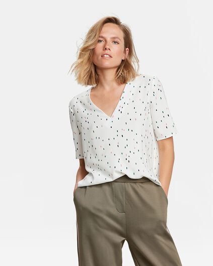 DAMES PRINT TOP Wit