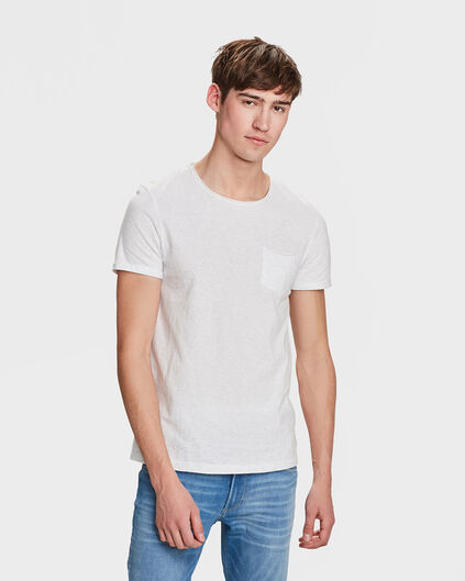 HEREN CHEST POCKET T-SHIRT Gebroken wit