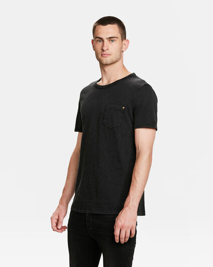 HEREN GARMENT DYED T-SHIRT Zwart