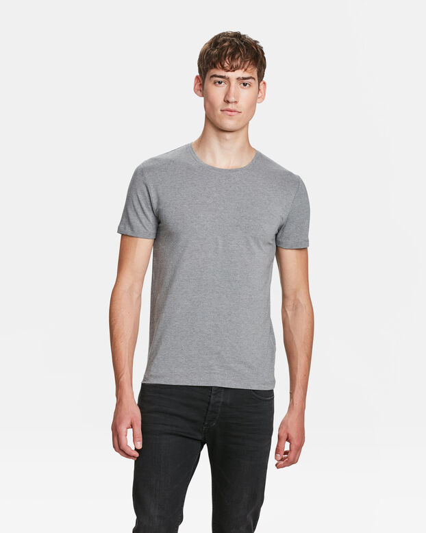 HEREN ORGANIC COTTON T-SHIRT Lichtgrijs