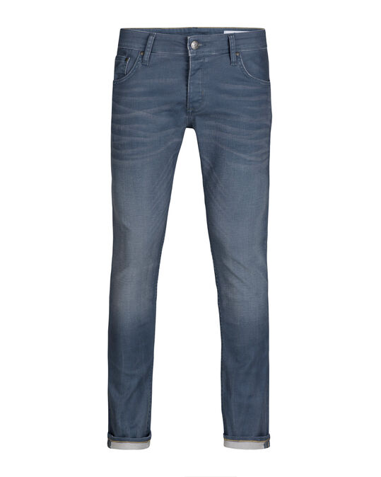 HEREN SLIM TAPERED STRETCH JEANS Grijs