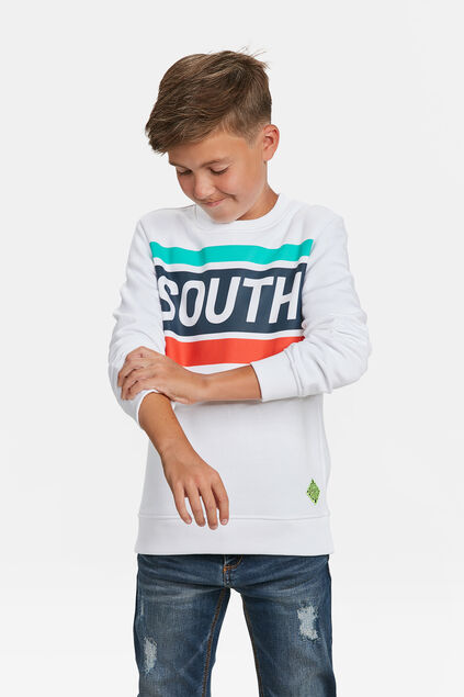 JONGENS SOUTH PRINT SWEATER Wit