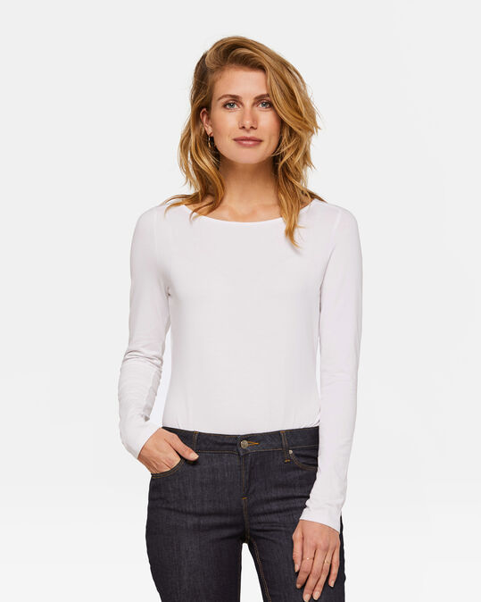 DAMES ORGANIC COTTON SHIRT Wit
