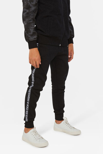 Jongens world print sweatpants Donkergrijs