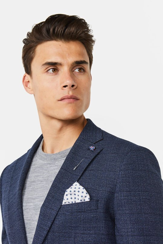 Heren slim fit blazer Cornwall Marineblauw