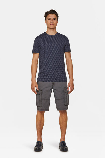 Heren relaxed fit cargo short Grijs
