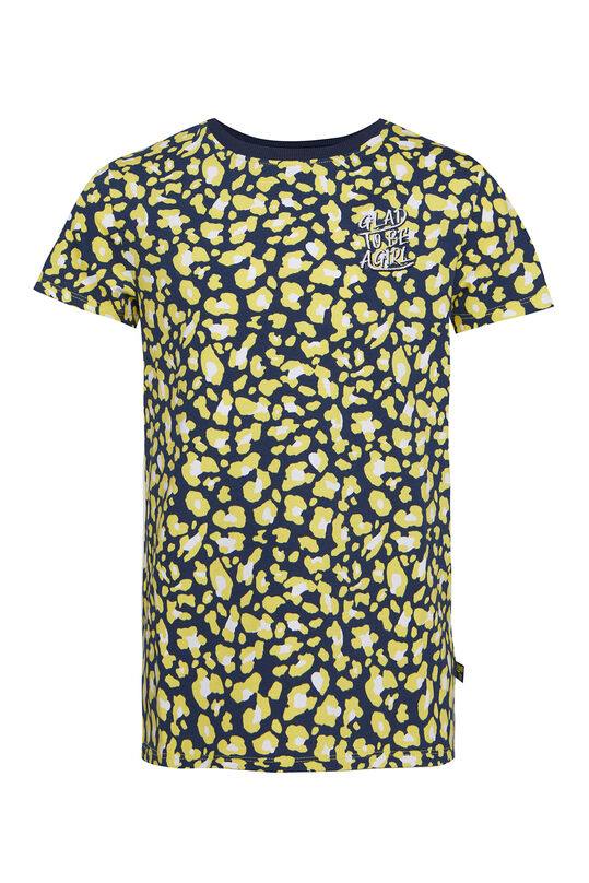 Meisjes T-shirt met luipaardprint All-over print