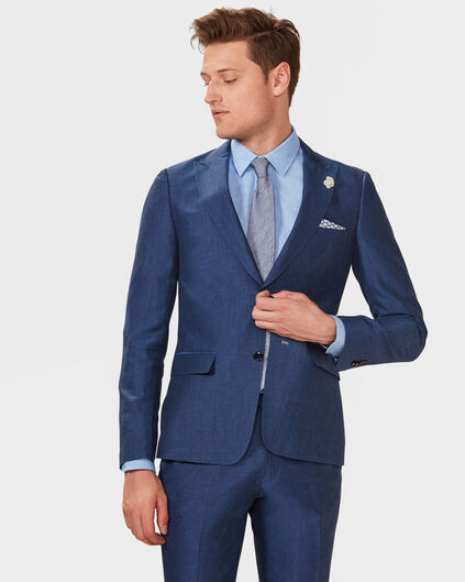 HEREN SLIM FIT BLAZER WALKER Blauw