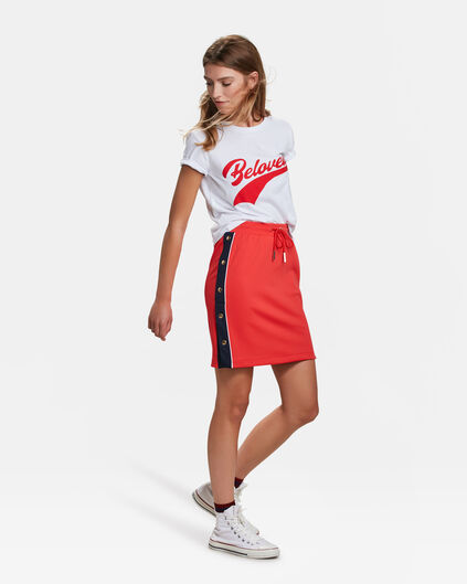 DAMES SPORTY STRIPE ROK Felrood