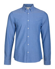 HEREN SLIM FIT OXFORD OVERHEMD_HEREN SLIM FIT OXFORD OVERHEMD, Felblauw