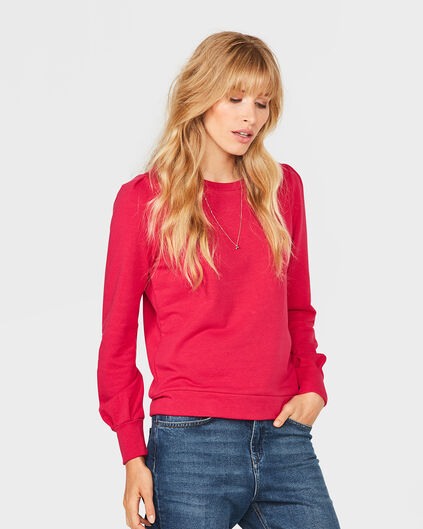 DAMES SOLID SWEATER Roze