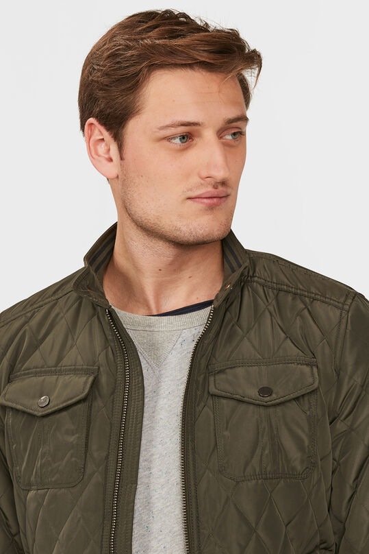 HEREN QUILTED BIKER JACKET Groen