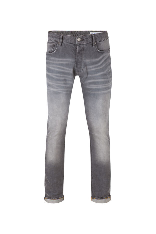 Heren slim tapered comfort stretch jeans Grijs