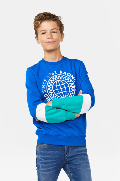 Jongens colourblock sweater Felblauw