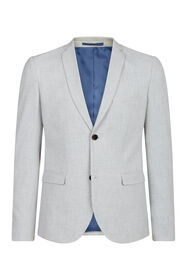 Heren slim fit blazer Dali_Heren slim fit blazer Dali, Lichtgrijs