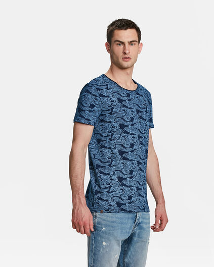 HEREN BIRD PRINT T-SHIRT Indigo