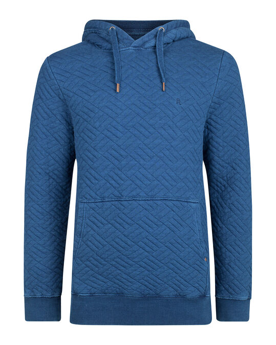 HEREN QUILTED HOODED SWEATER Donkerblauw