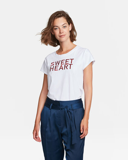 DAMES SWEET HEART DESSIN T-SHIRT Wit