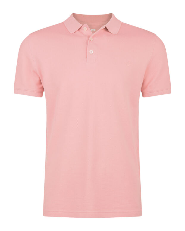 HEREN ORGANIC COTTON PIQUÉ POLO Lichtroze