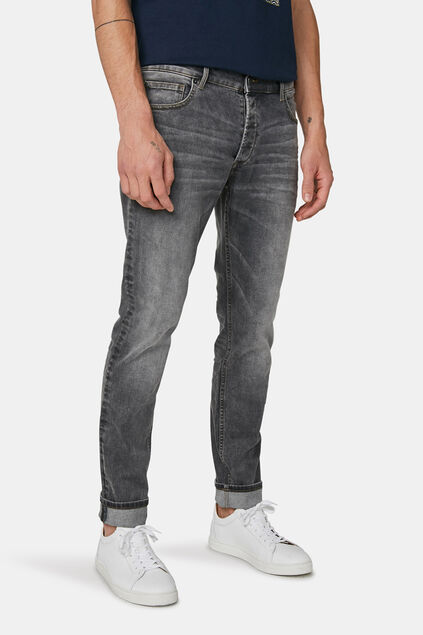 Heren slim tapered jeans Grijs