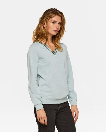 Dames glitter detail sweater Lichtblauw