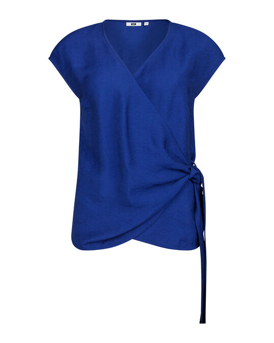 DAMES WRAP TOP Kobaltblauw
