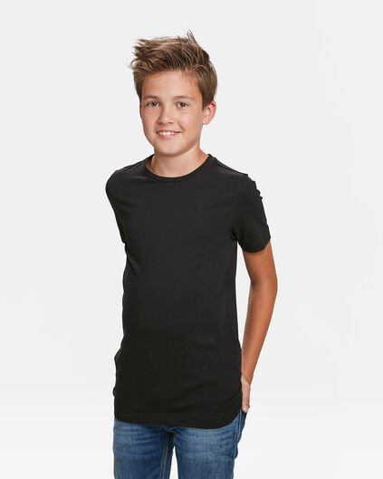 JONGENS BASIC T-SHIRTS,  2-PACK Zwart