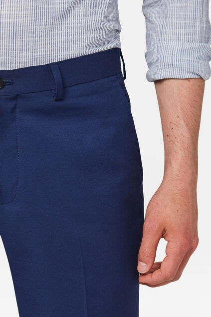 Heren slim fit short Dali Donkerblauw