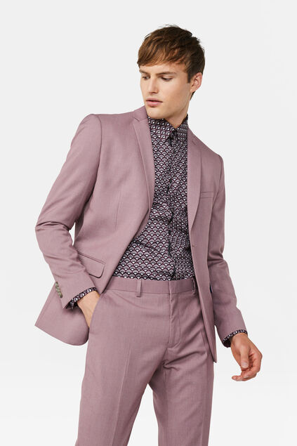 Heren slim fit blazer Dali Oudroze