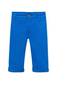 Jongens slim fit chino short_Jongens slim fit chino short, Blauw