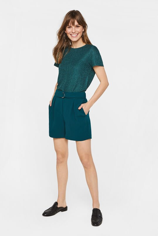 Dames high waist short met ceintuur Groen