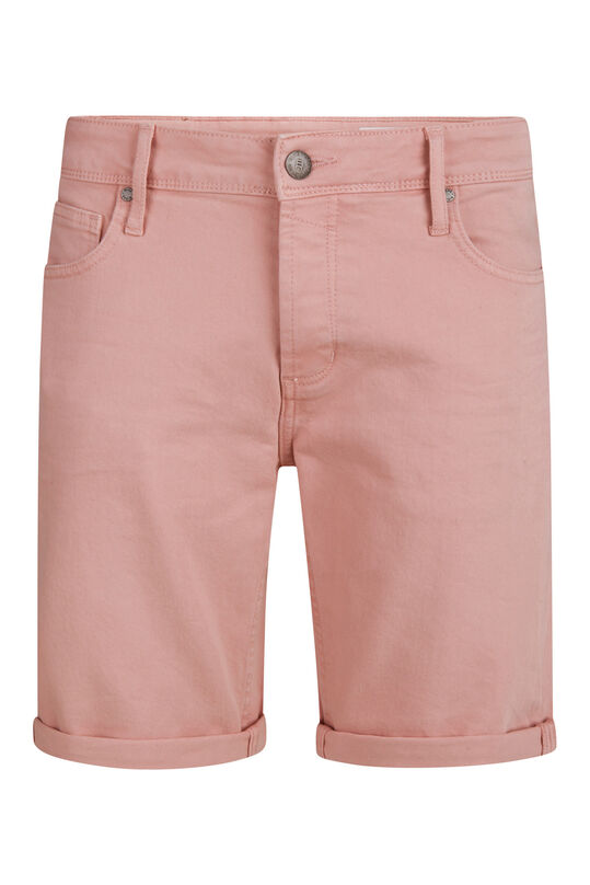 Heren regular fit denim short Lichtroze