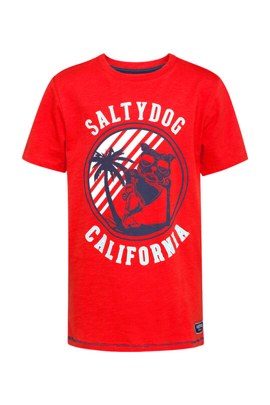 Jongens California T-shirt Felrood