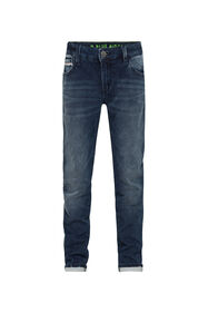 JONGENS SKINNY FIT JOG DENIM_JONGENS SKINNY FIT JOG DENIM, Donkerblauw
