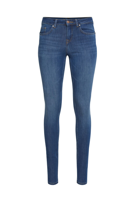 Dames mid rise super skinny shaping jeans Blauw