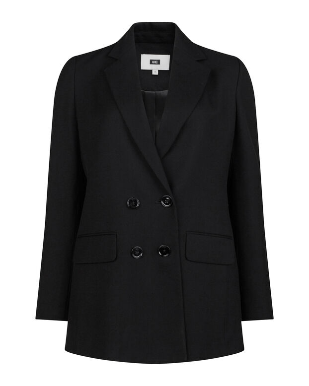DAMES LOOSE FIT DOUBLE BREASTED BLAZER Zwart