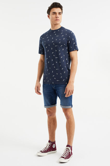 Heren regular fit denimshort Blauw