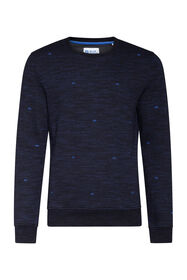 Heren dessin sweater_Heren dessin sweater, Marineblauw
