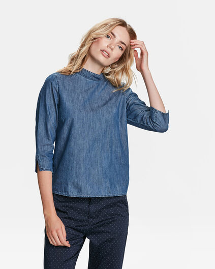 DAMES DENIM TOP Blauw