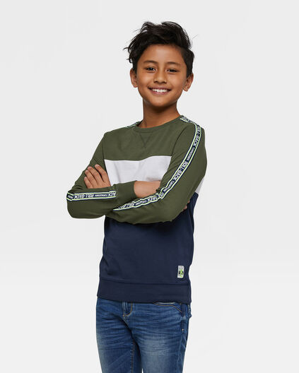 Jongens colourblock T-shirt Groen