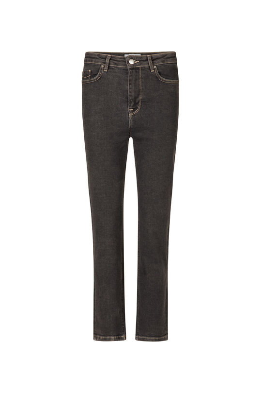 Dames straight fit jeans Zwart
